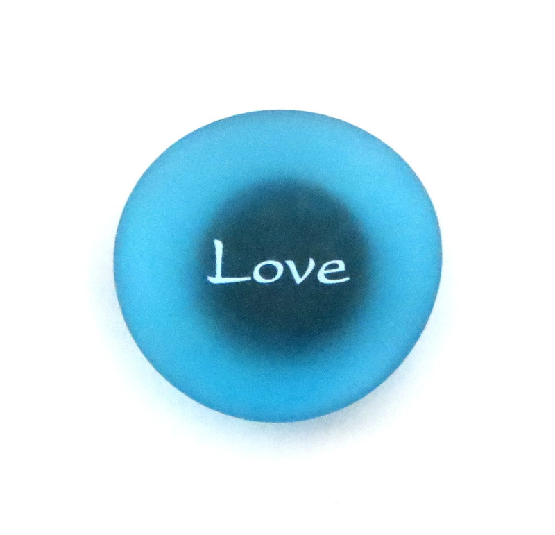 The Mermaid's Message Magnet, Love. By Lifeforce Glass, Inc.