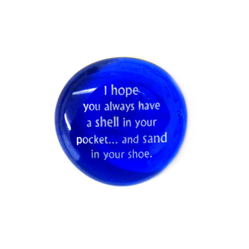 I hope you always have a shell in your... Glass Stone from Lifeforce Glass