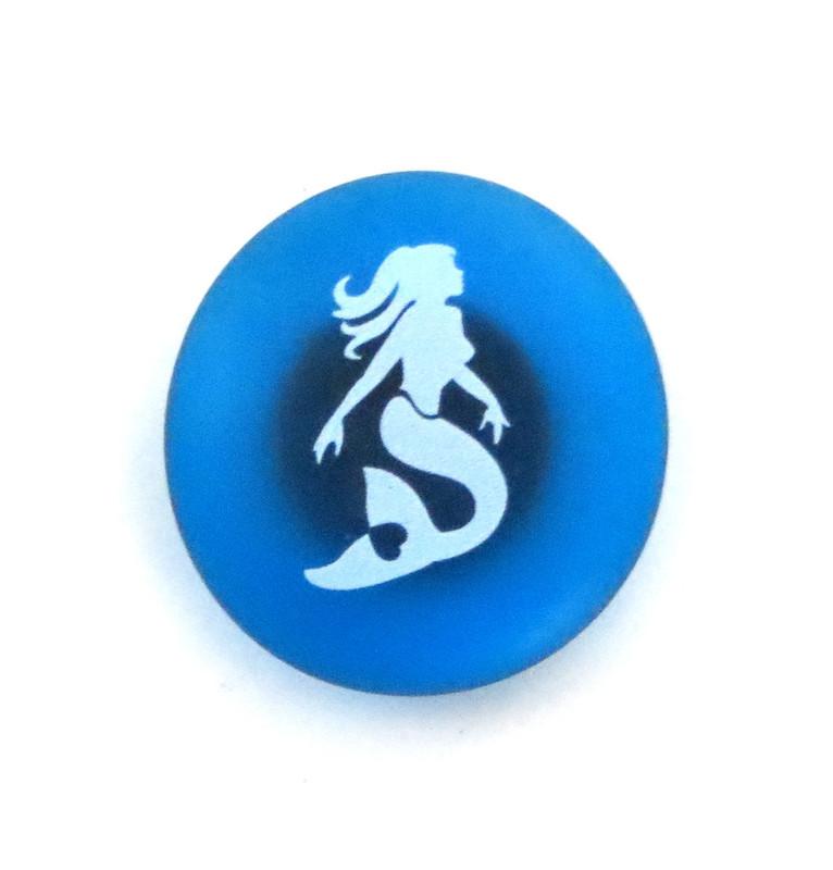 The Mermaid's Message Magnet, Mermaid. By Lifeforce Glass, Inc.