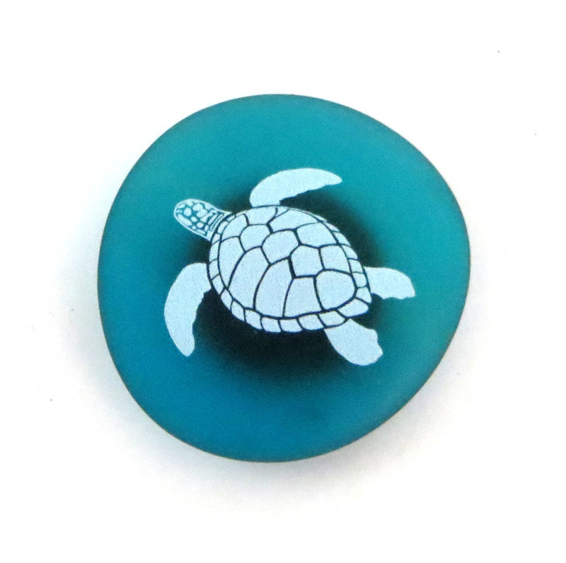 The Mermaid Message Magnet- Sea Turtle, by Lifeforce Glass, Inc.