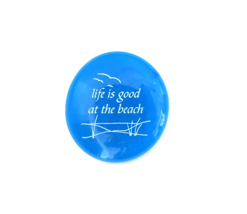Life is good at the beach... Glass Stone from Lifeforce Glass