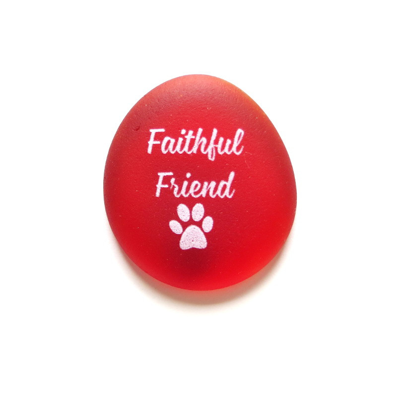 Faithful Friend stone from Lifeforce Glass, Inc.