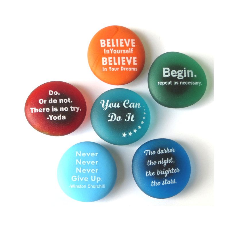 Inspiration Magnets Set I, set of six... From Lifeforce Glass