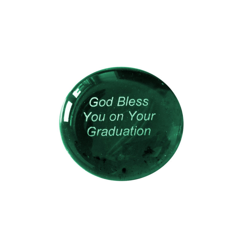 God Bless You on Your Graduation... Glass Stone from Lifeforce Glass