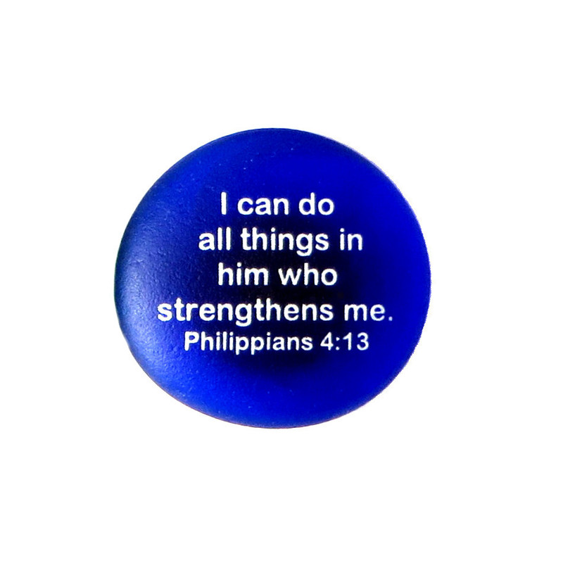 Scripture magnet, Philippians 4:13 from Lifeforce Glass, Inc.
