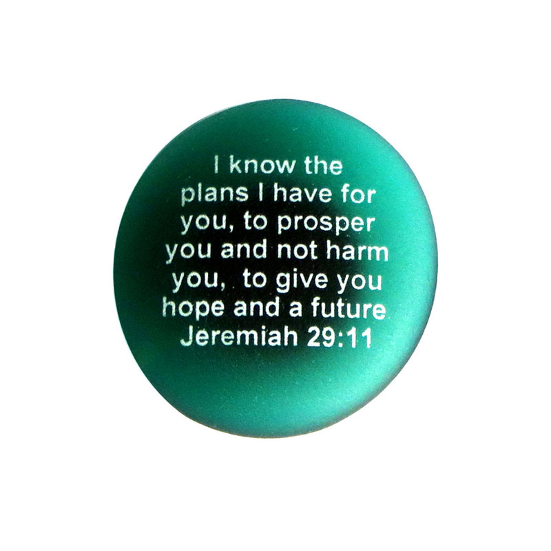 Scripture Magnet, I know the plans I have for you...from Lifeforce Glass, Inc.
