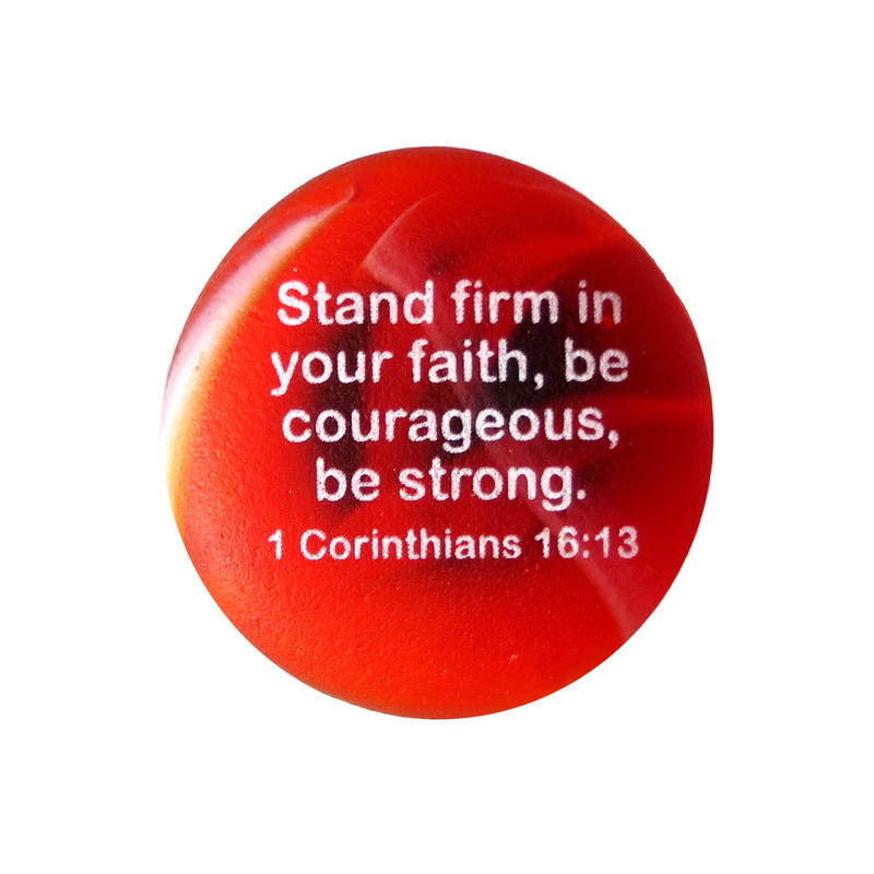 Scripture magnet: Stand firm in your faith, from Lifeforce Glass, Inc.