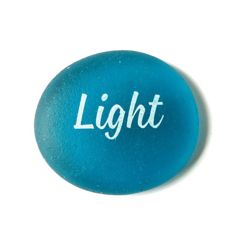 Sea Stone Light from Lifeforce Glass