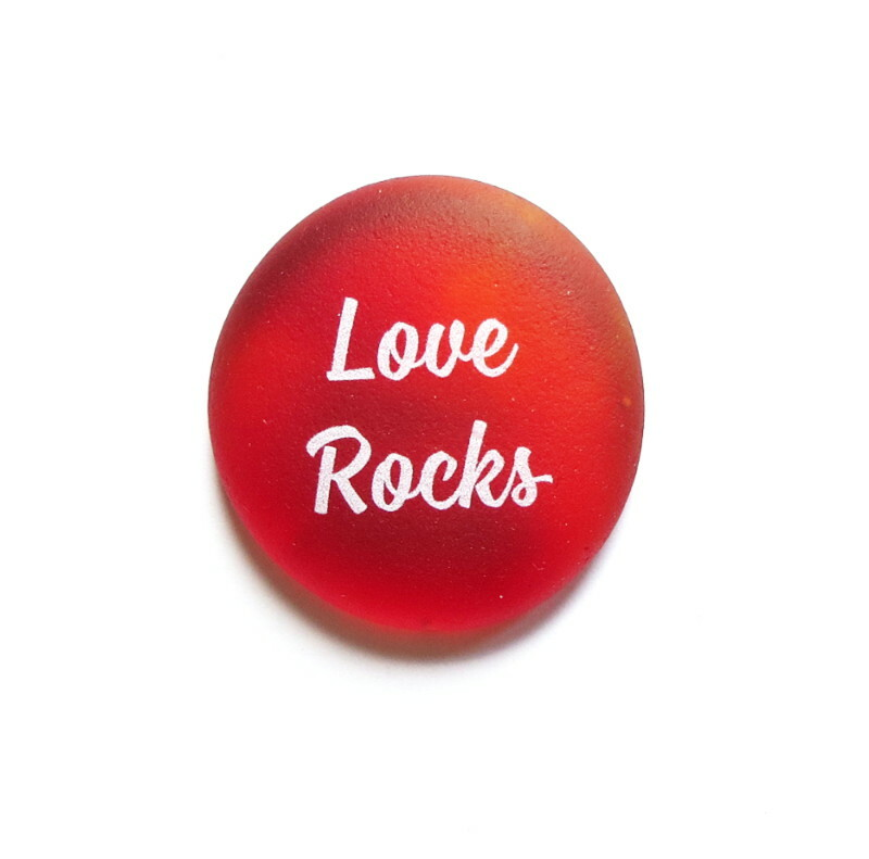 Sea Stone Love Rocks from Lifeforce Glass, Inc.
