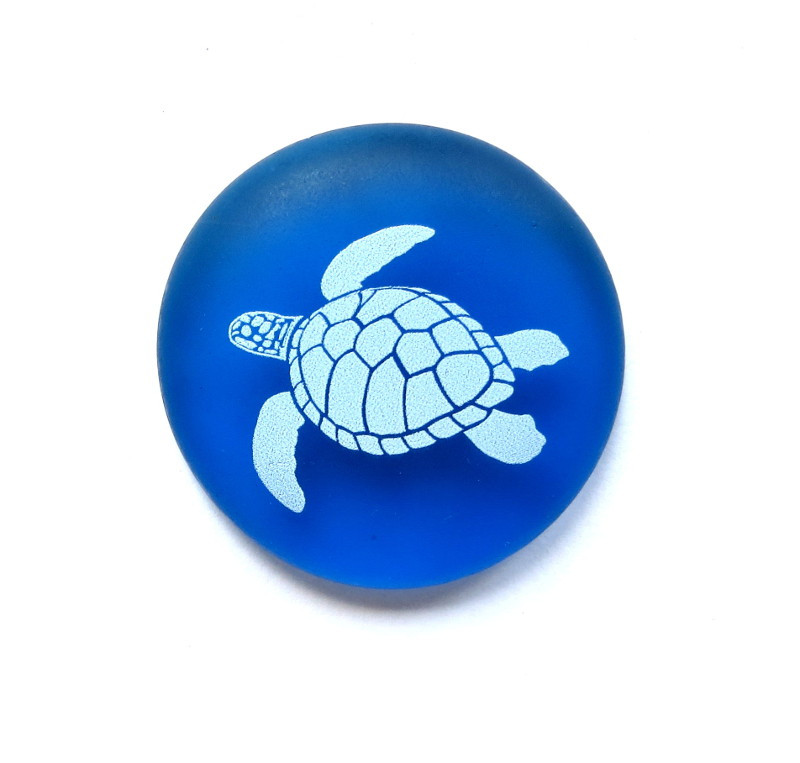 Honu on sea glass from Lifeforce Glass, Inc.