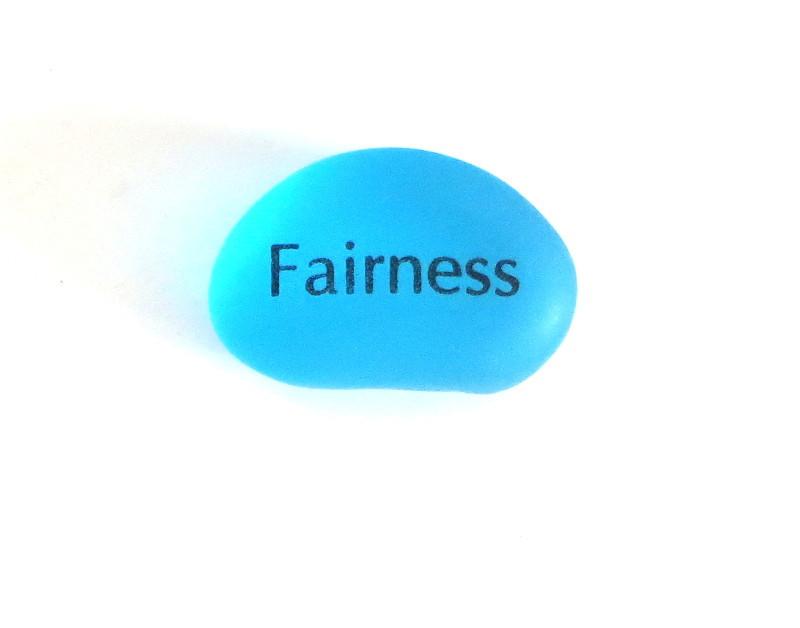 Peace Pebble, Fairness