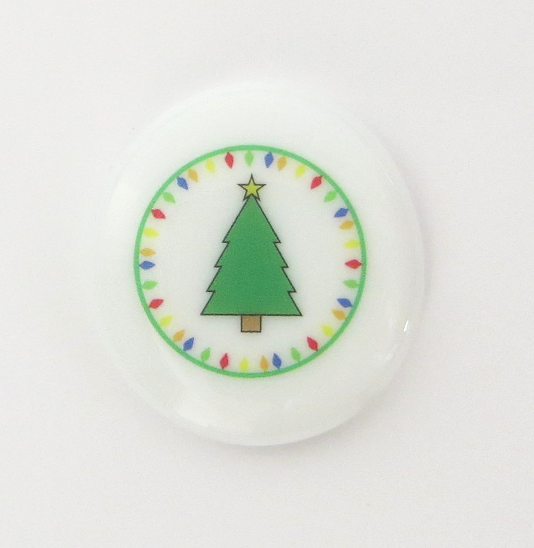 Christmas Tree with Lights Glass Stone from Lifeforce Glass
