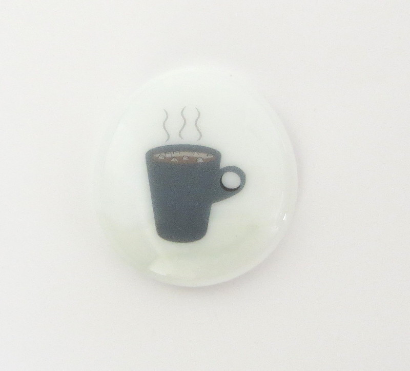 Hot Chocolate Glass Stone from Lifeforce Glass