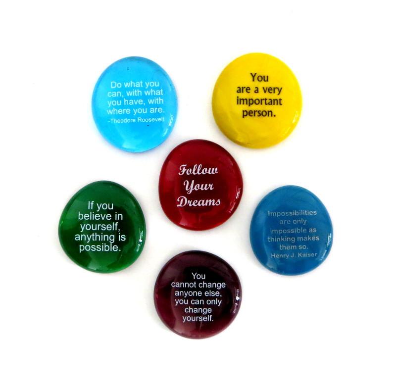 Motivation I Stones, set of six... From Lifeforce Glass