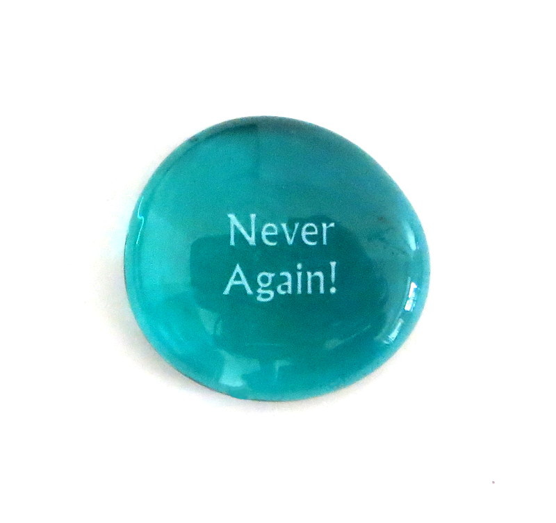 Never Again... Glass Stone from Lifeforce Glass