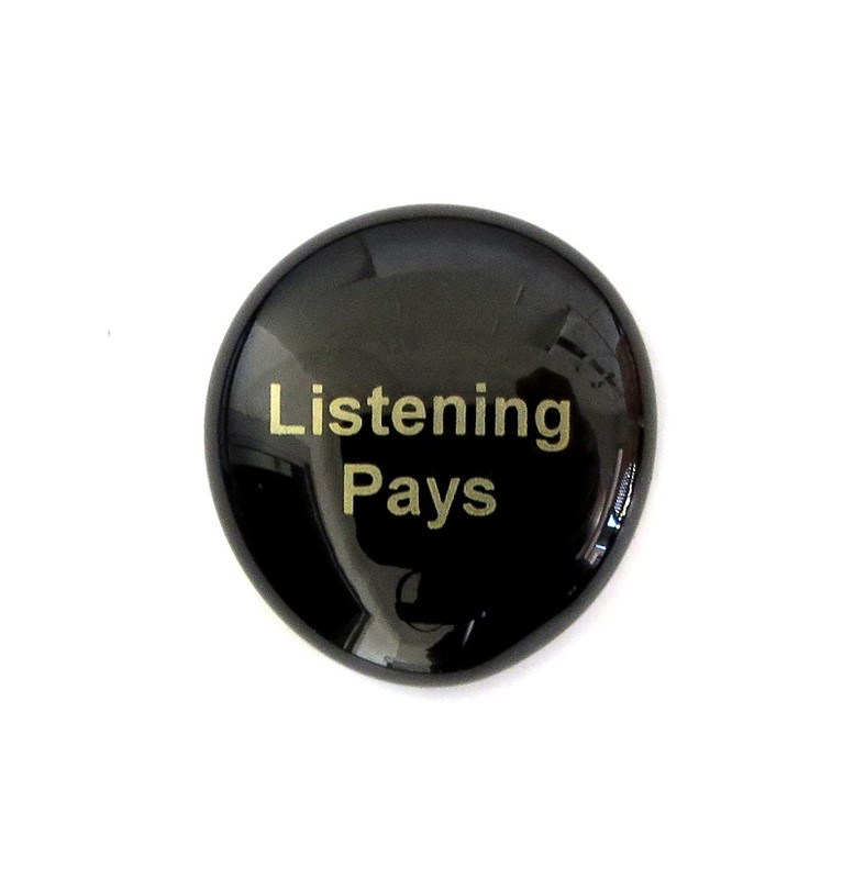 Listening Pays... Glass Stone from Lifeforce Glass