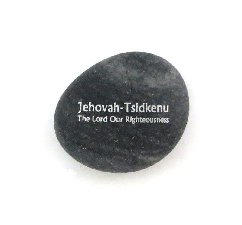 Jehovah - Tsidkenu... River Rock from Lifeforce Glass