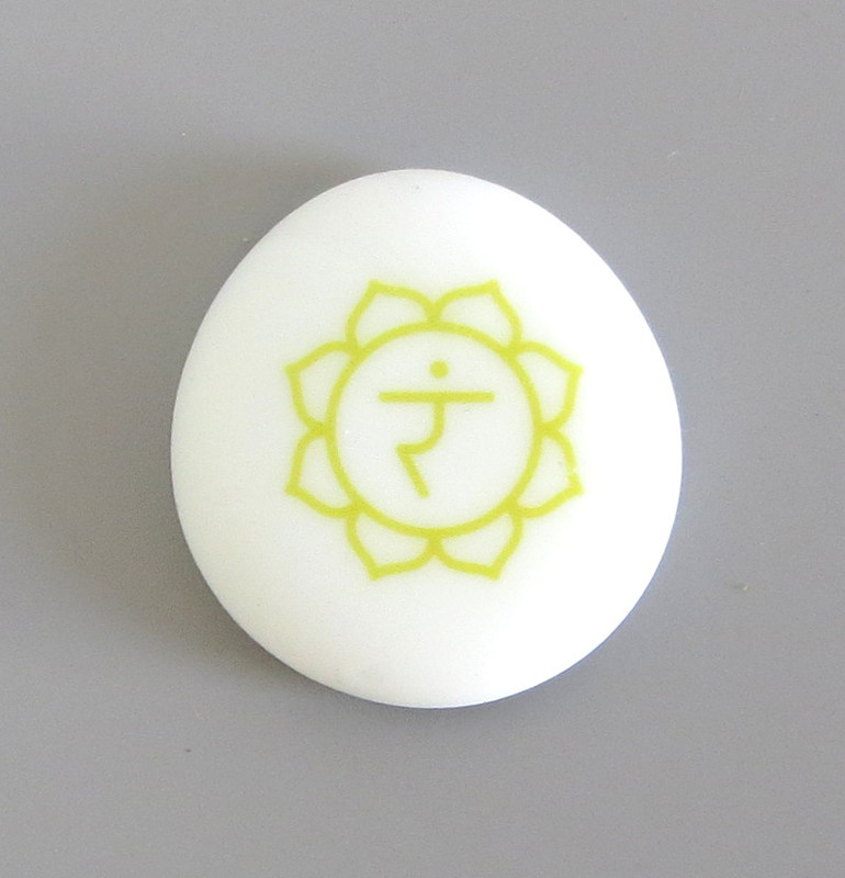 Solar Plexus Chakra Symbol... Sea Stone from Lifeforce Glass