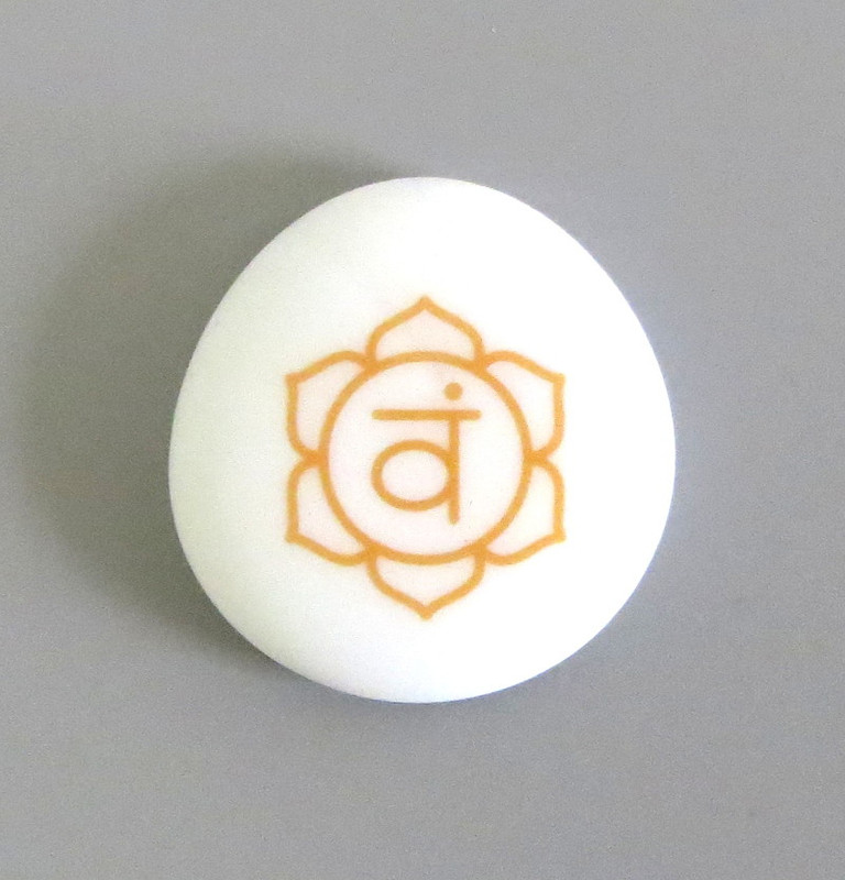 Sacral Chakra Symbol... Sea Stone from Lifeforce Glass