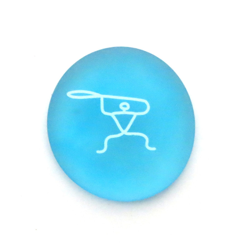 Female Paddler Petroglyph... From Lifeforce Glass