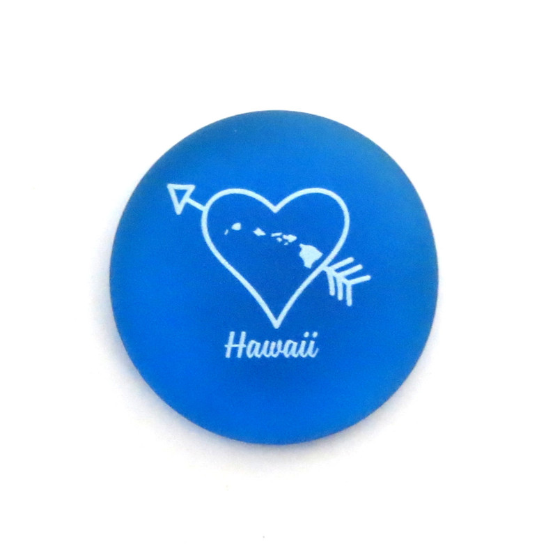 Hawaii State Heart... From Lifeforce Glass