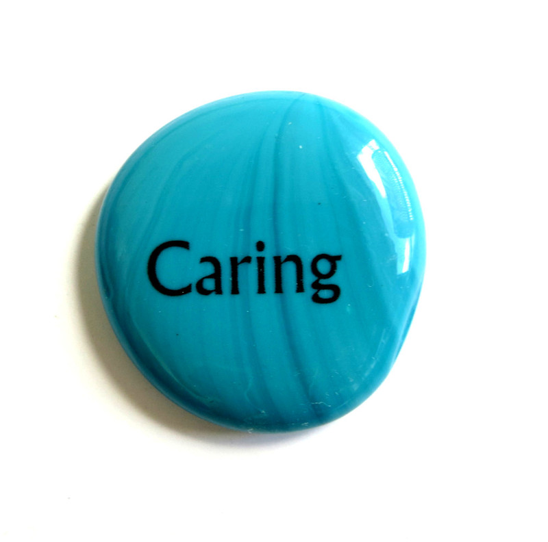Caring, Opal Turquoise and Opal Blue, Original Printing Method