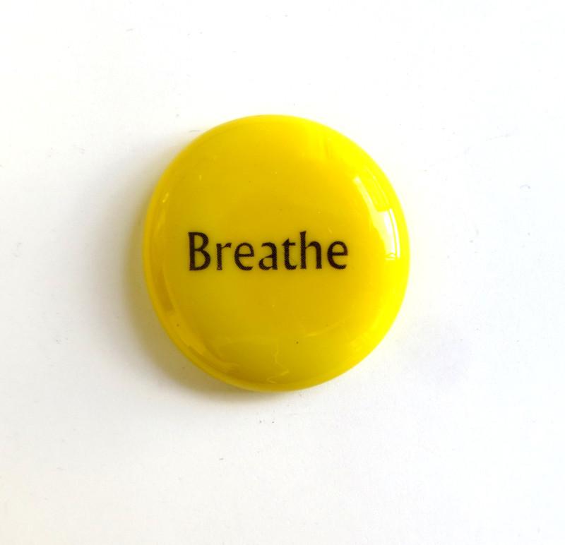 Breathe on Opal Yellow, Black Ink, Original Printing Method