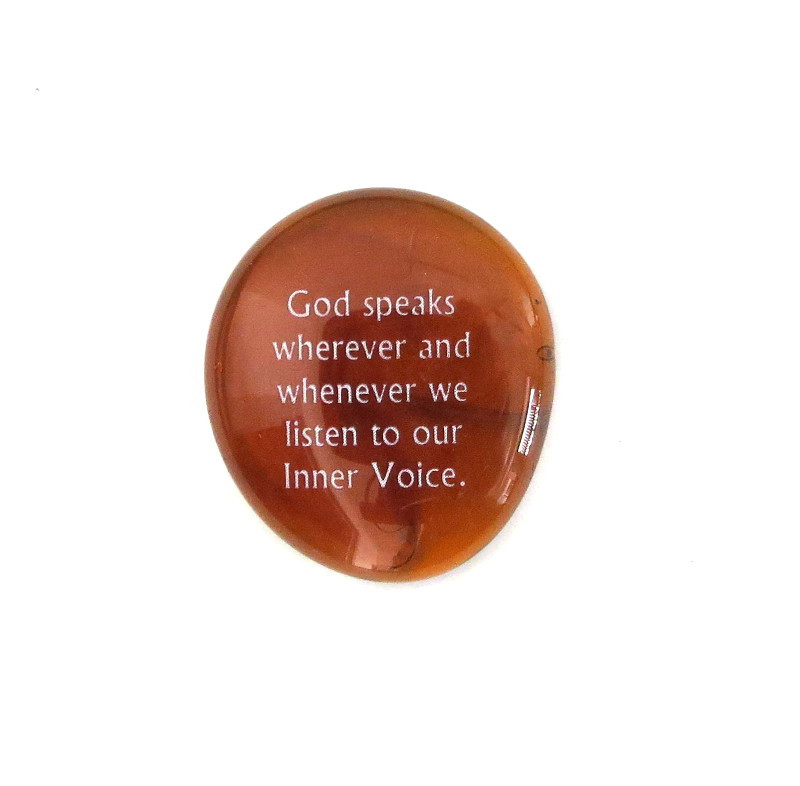 God speaks wherever and ... Glass Stone from Lifeforce Glass