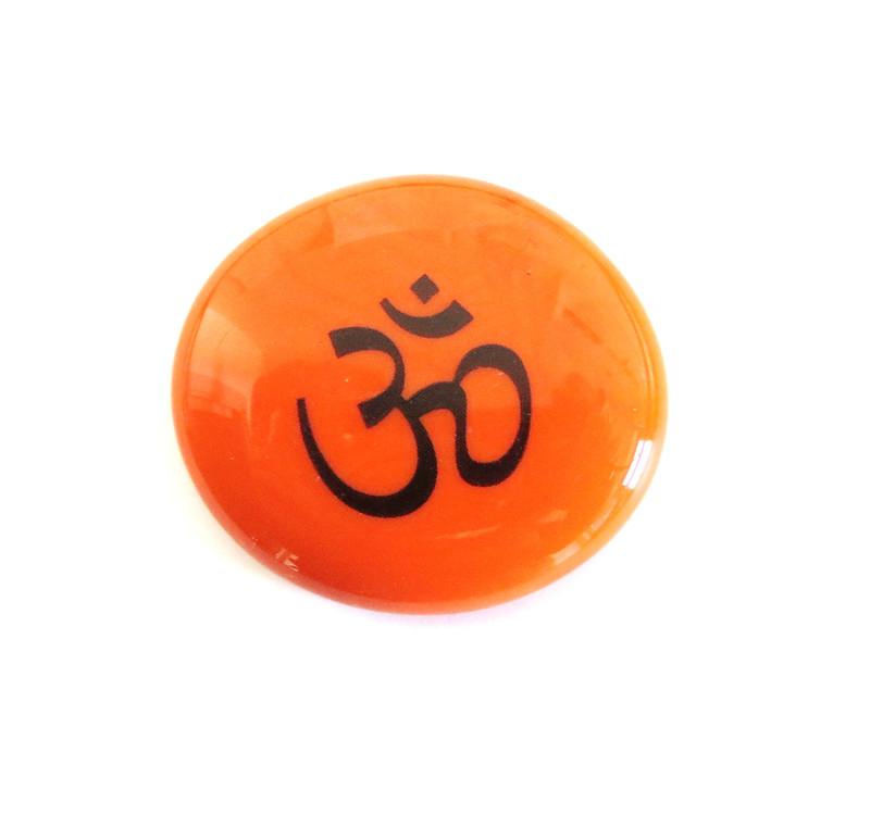 Opal Orange Om Symbols