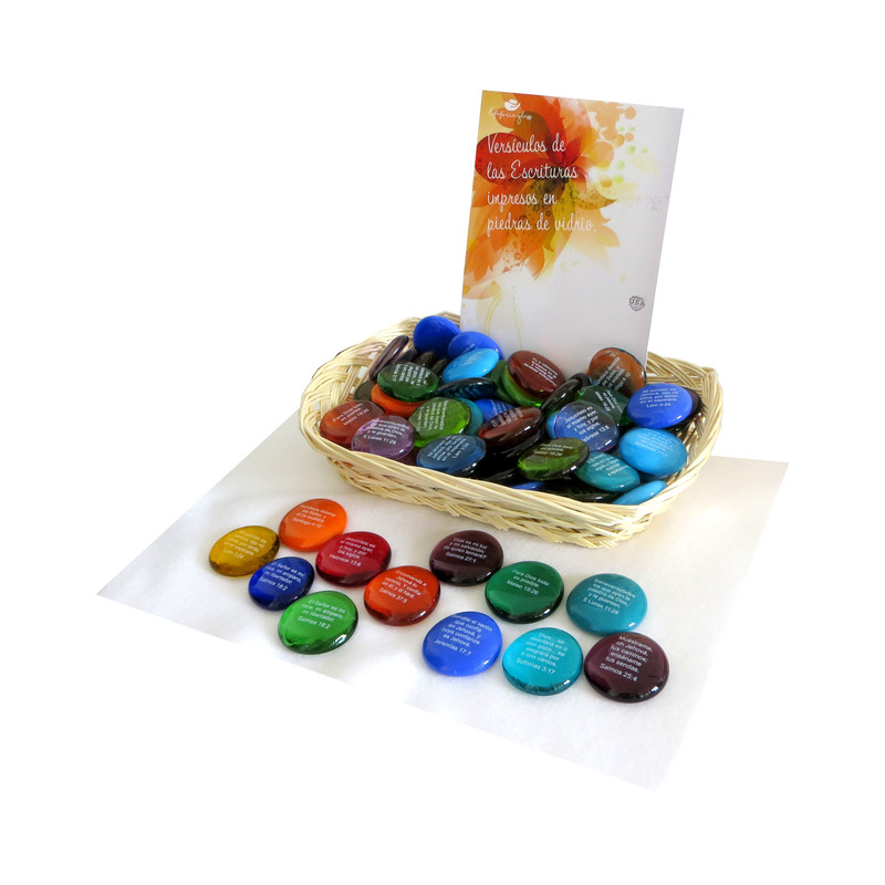 Spanish Scripture Stone Assortment from Lifeforce Glass