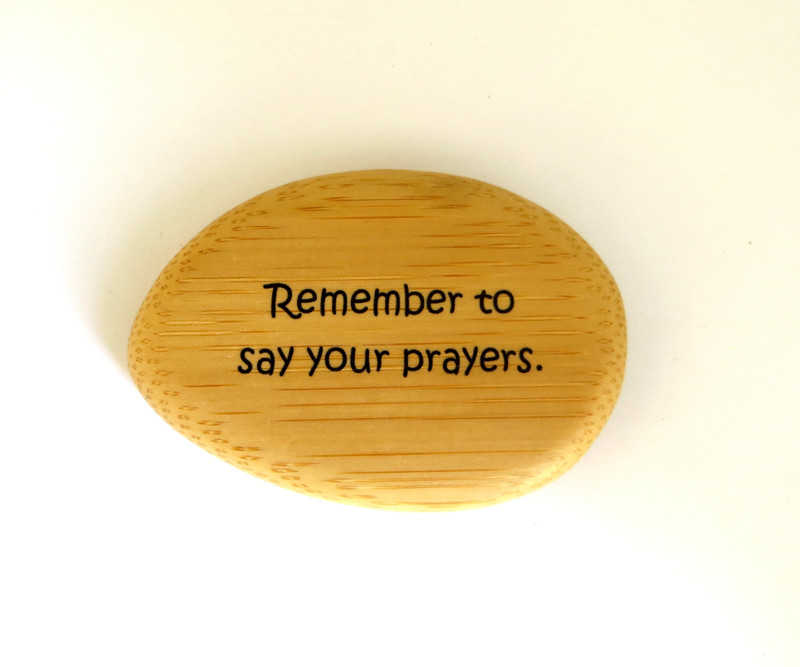 Remember To Say Your Prayers Bamboo Shape
