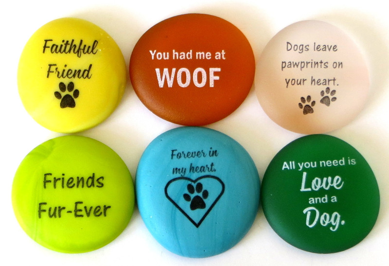 For Dog Lovers, Six Frosted Sea Stones