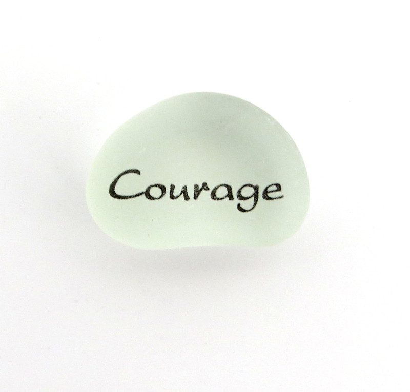 Courage Peace Pebbles