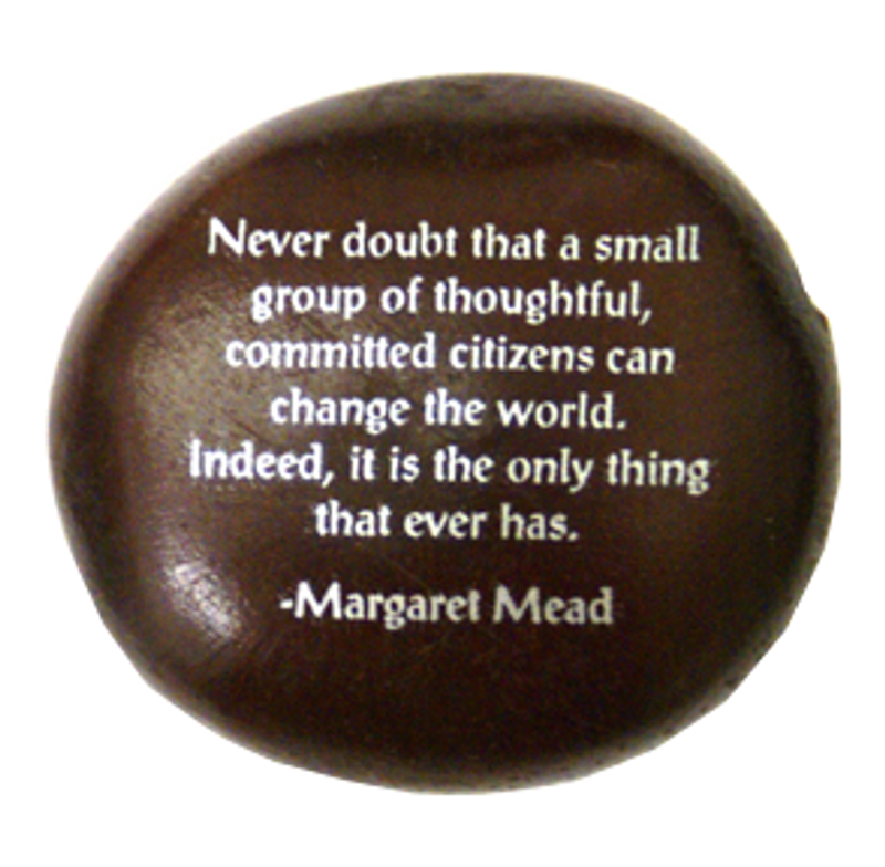 Margaret Meade Quote Seabean from Lifeforce Glass