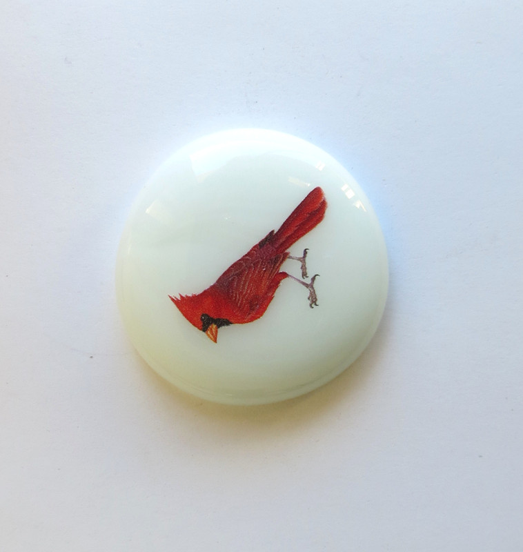 Cardinal glass stone from Lifeforce Glass