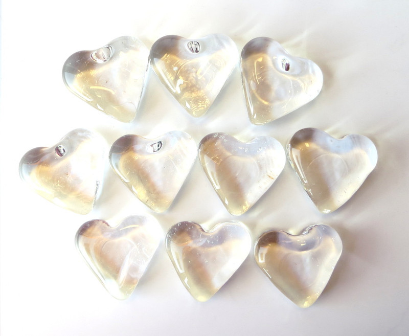 Clear American Made Hearts