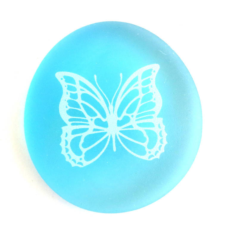Mermaid Message Butterfly from Lifeforce Glass