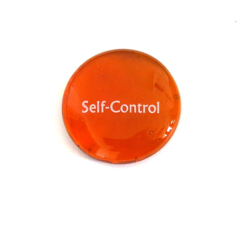Self-Control... Glass Stone From Lifeforce Glass