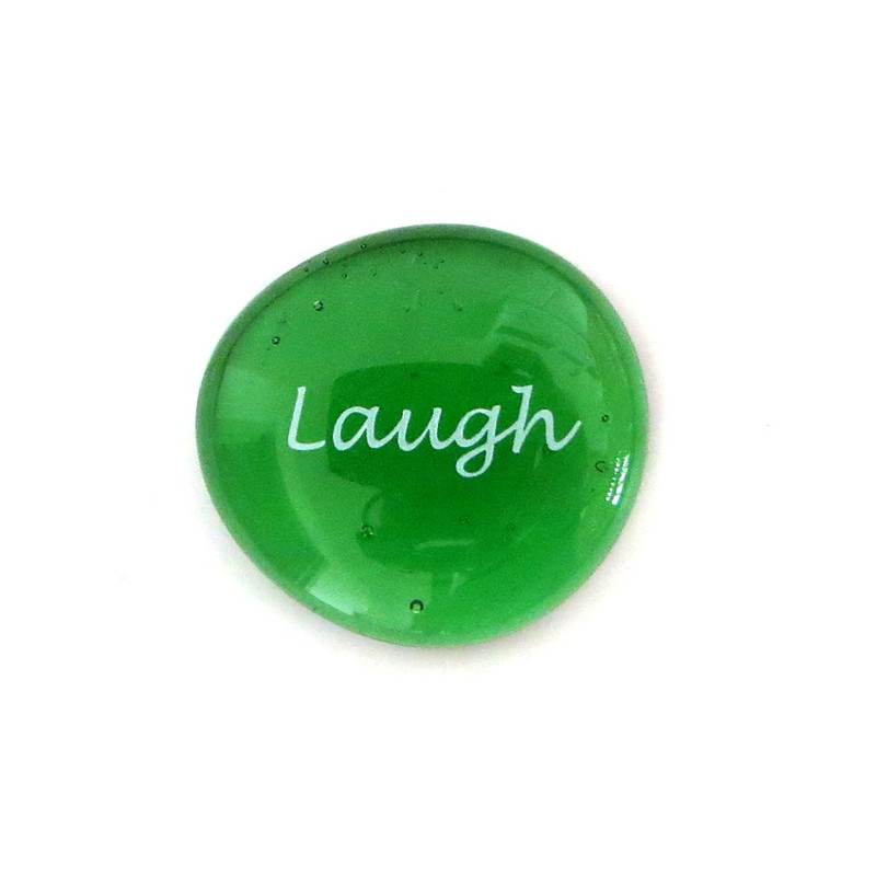Laugh... Glass Stone from Lifeforce Glass