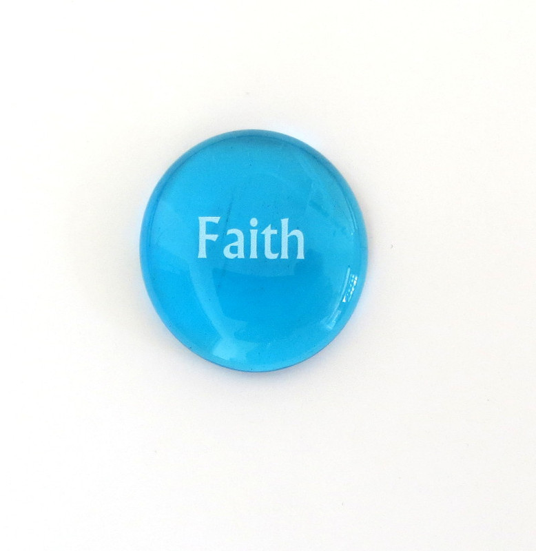 Faith Glass Stone from Lifeforce Glass