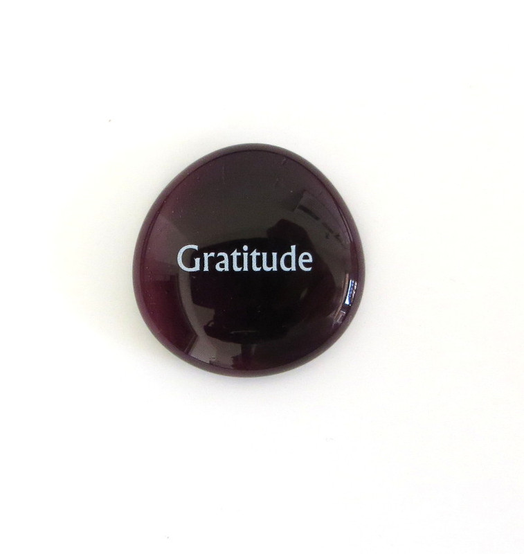 Gratitude Stone... From Lifeforce Glass