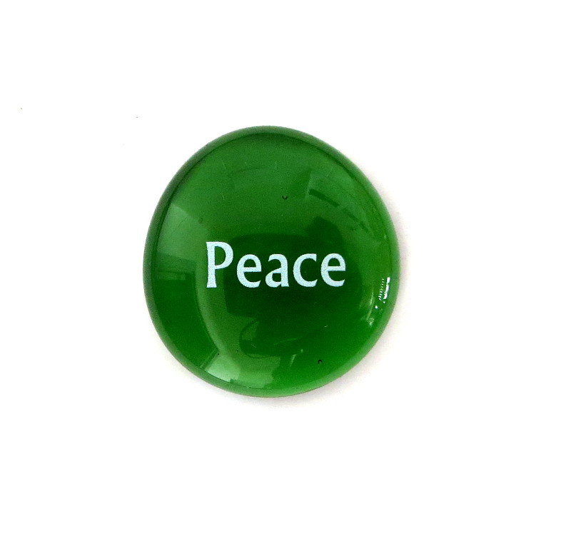 Peace...Glass Stone from Lifeforce Glass