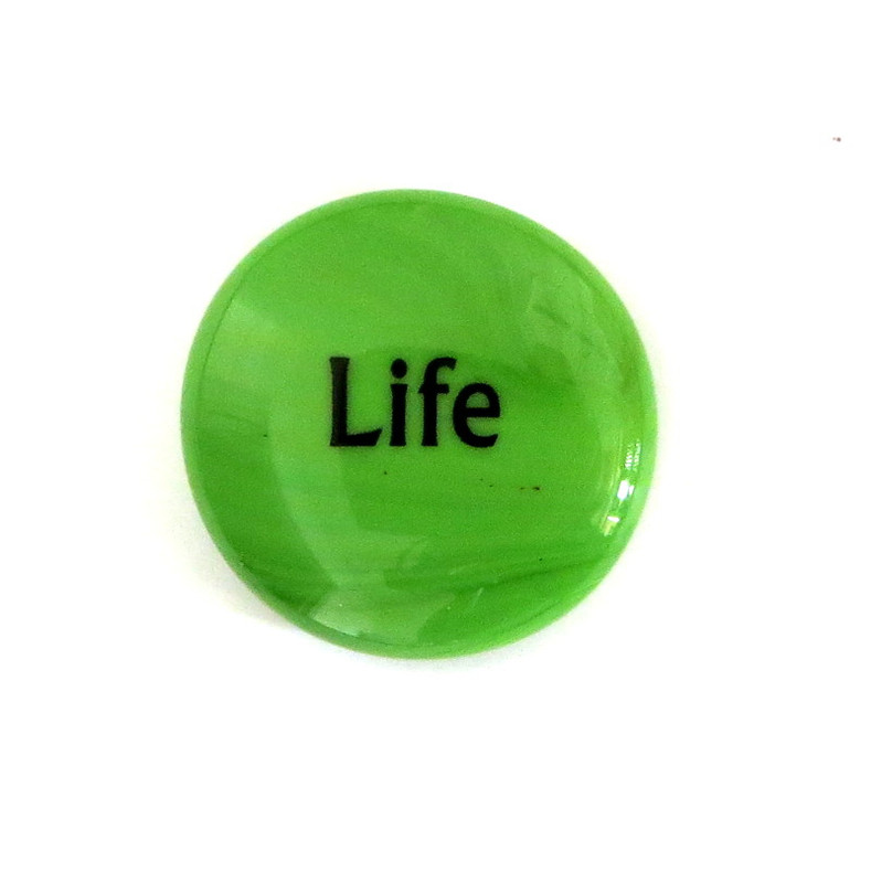 Life... Glass Stone From Lifeforce Glass