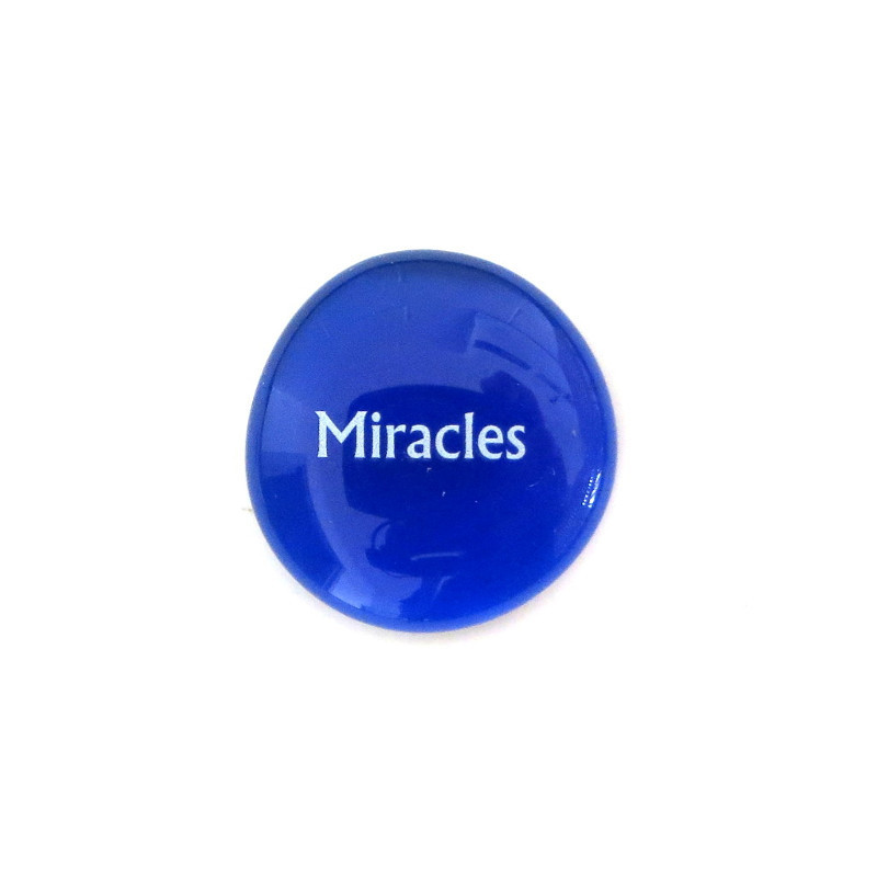 Miracles... Glass Stone From Lifeforce Glass