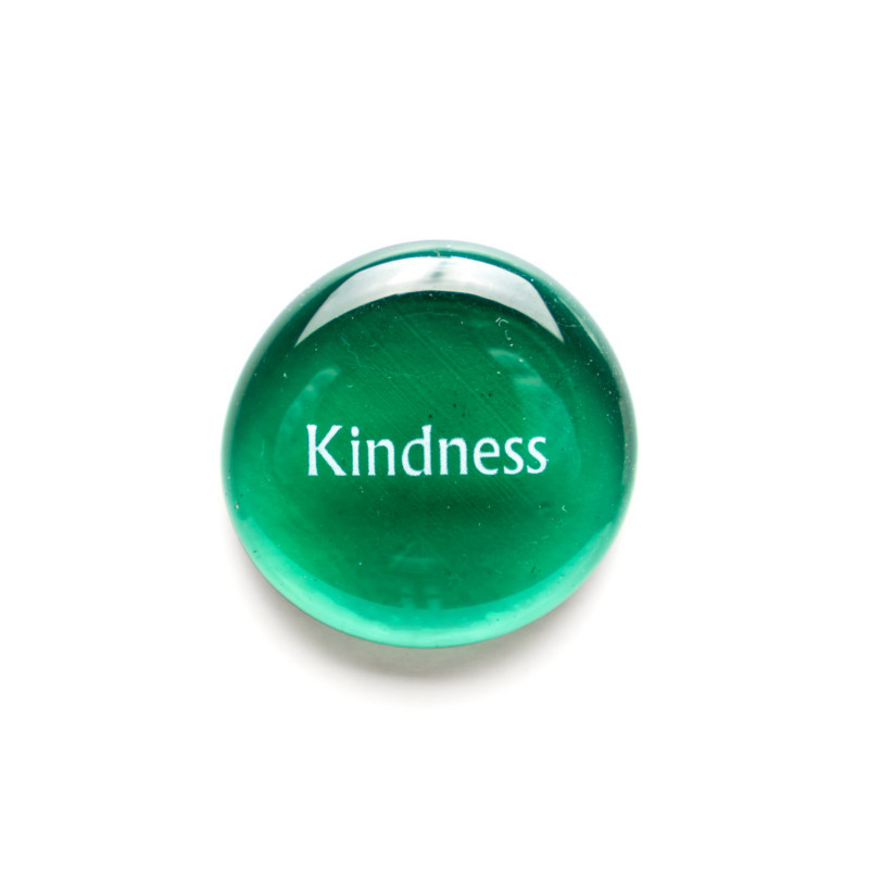 Kindness... Glass Stone from Lifeforce Glass