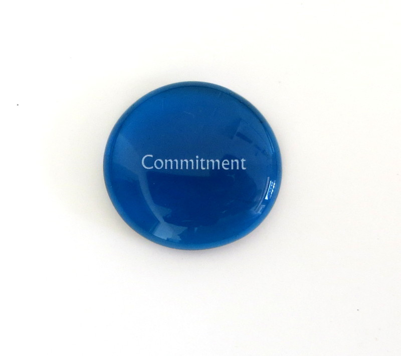 Commitment Glass Stone from Lifeforce Glass