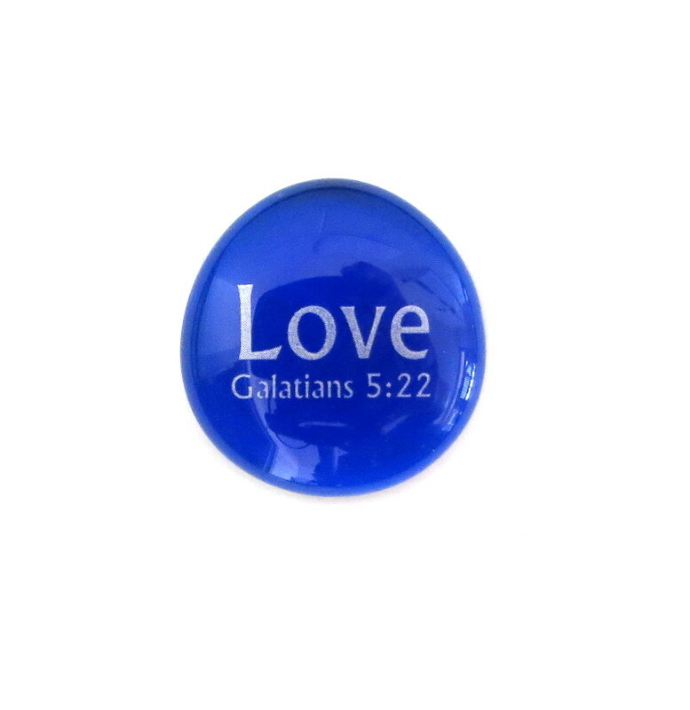 Fruit of the Spirit- Love... Glass Stone from Lifeforce Glass
