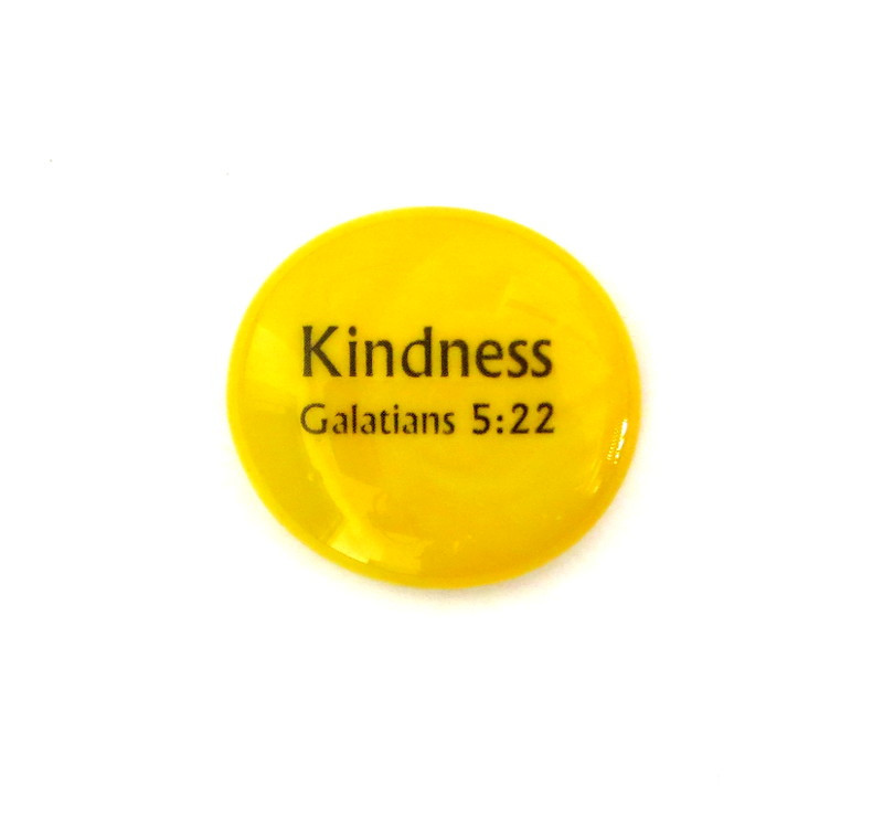 Fruit of the Spirit- Kindness... Glass Stone from Lifeforce Glass