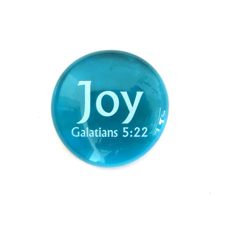 Fruit of the Spirit- Joy... Glass Stone from Lifeforce Glass
