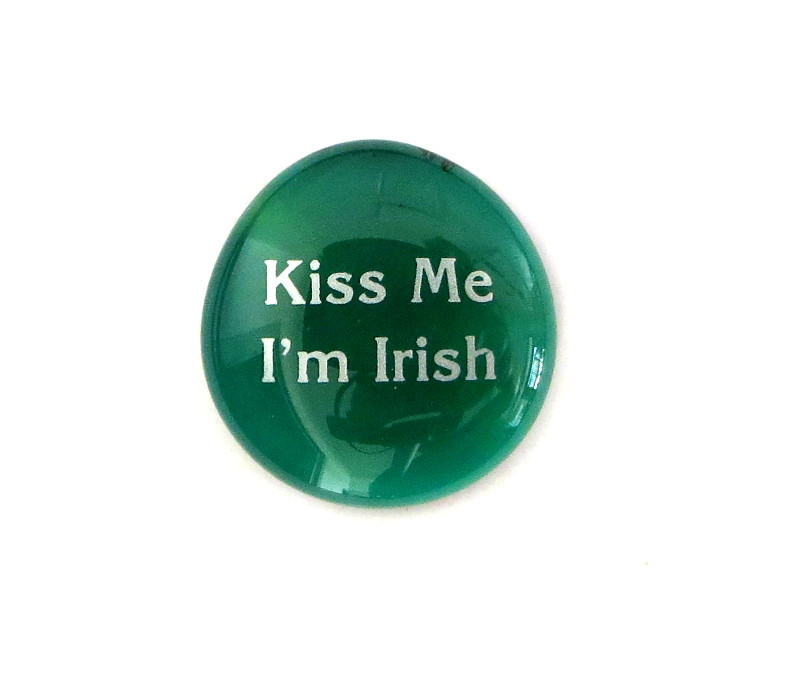Kiss Me, I'm Irish... Glass Stone from Lifeforce Glass